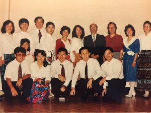 1995年部分团员与王洛宾合影